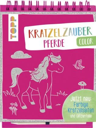 Kratzelzauber Color Pferde, m. Holzstift